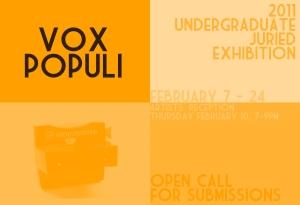 Vox Populi: 2011 Undergraduate Juried Exhibition